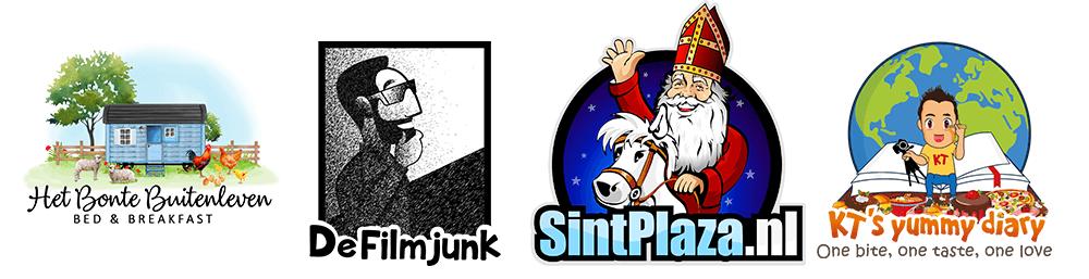 Mascotte logo met illustratie voorbeelden
